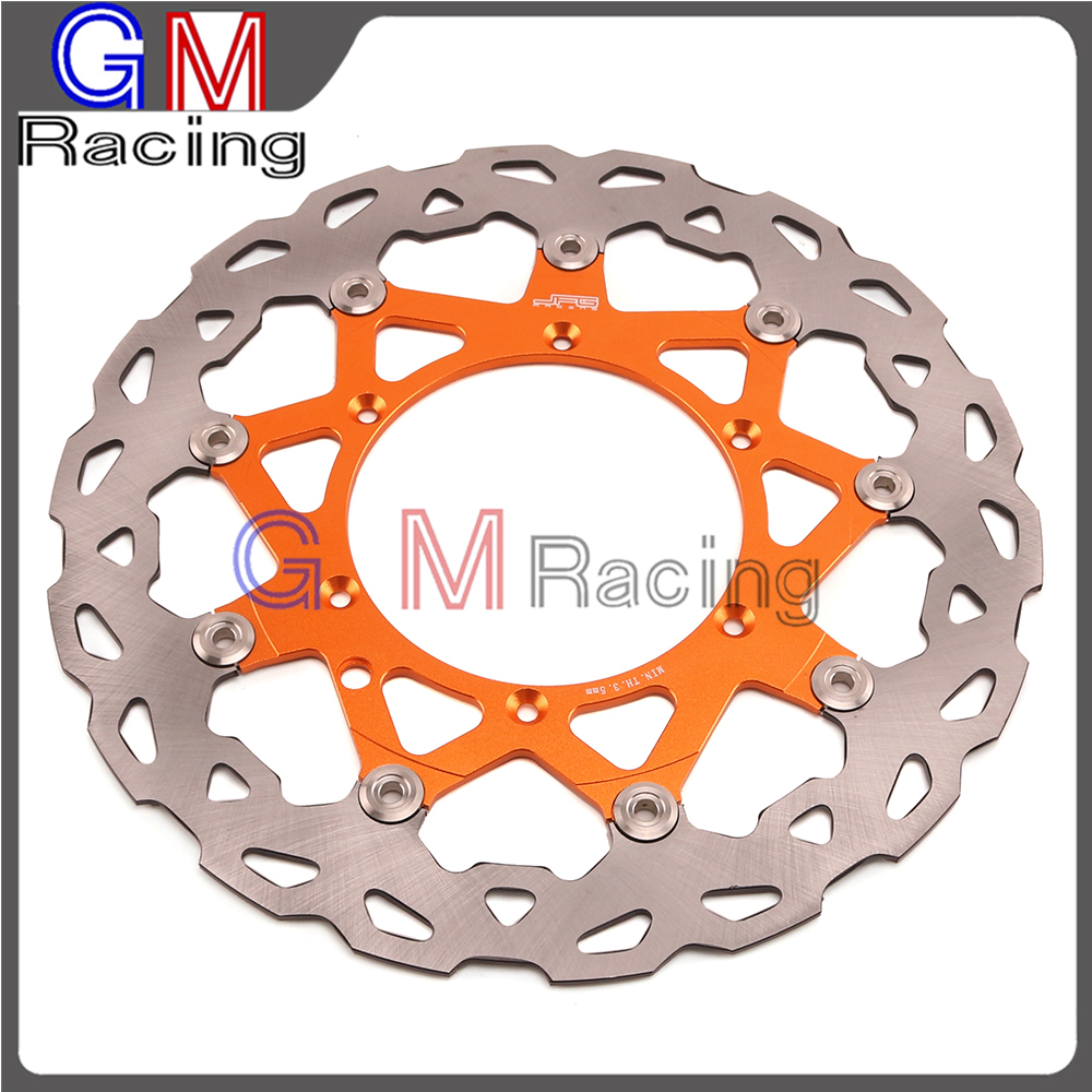 Motorcycle 320MM Front Floating Brake Disc Rotor For KTM SX XC EXC SXF XCF XCW XCFW EXCF 125 150 250 300 350 400 450 500 525 530 right left sides wp fork leg shoe guard protector cover for ktm 125 200 250 300 350 400 450 500 exc sx sxf xc xcf excf excw xcfw