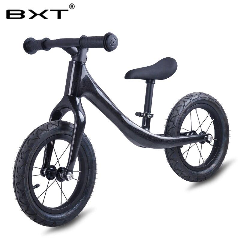 Vélo BXT en fibre de carbone sans pédale vélo d'équilibre en carbone pour enfants de 2 à 6 ans vélo complet pour enfants