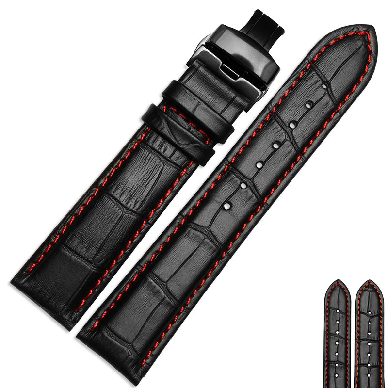 NP12 Nesun 20 mm/21 mm/22 mm/23 mm/24 mm Leather Watch Bands,Great Replacement Watch Strap For Men And Women Free Shipping hot sale watchband high quality leather watch accessories for women 14 15 16 17 18 19 20 21 22 23 24 mm strap belt free shipping