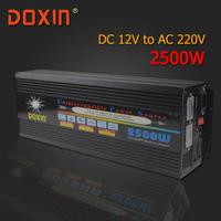 AC/DC/AC автомобильный инвертор Мощность инвертор 12 В 220 В 2500 Вт универсальный источник бесперебойного Мощность Системы/ бесперебойного Питани