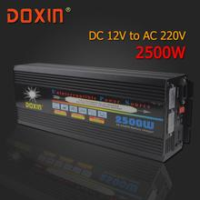 AC/DC/AC Инвертор Автомобиля 12 В 220 В 2500 Вт Инвертор Универсальный Бесперебойного Питания/источник бесперебойного Питания UPS