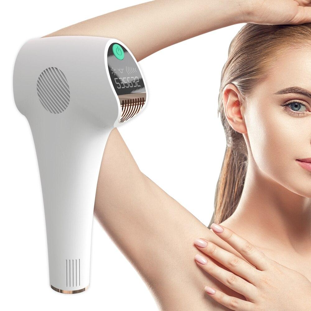 500000 Pulsed IPL Permanent laser Hair Removal lazer epilasyon laser Epilator for women men facial Armpit Bikini Beard Legs-in Epilators from Home Appliances