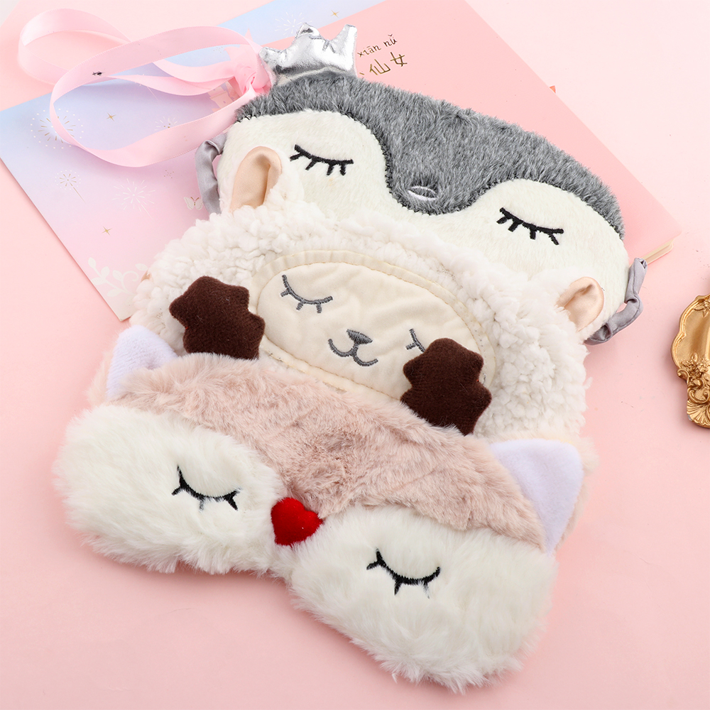1PC Cute Cartoon Blindfold Eye Mask Shade Cover Sleeping Aid Padded Health Care Travel Blindfold Portable Eye Patch Eye Care(China)