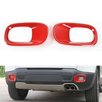 BBQ@FUKA 2 x Red Car Rear Foglight Fog Lamp Light Cover Trim Stylign Sticker Fit For Jeep Renegade 2015 2016