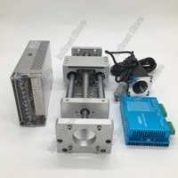 100MM CNC Linear Module Sliding Table Cross Slide Stage Ballscrew + Nema23 Closed Loop Stepper Motor Driver Power Supply Kit