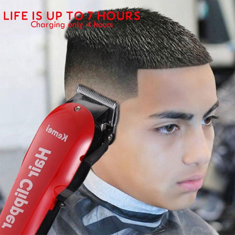 Image 5 - Kemei Barber Hair Clipper Professional Cordless Hair Trimmer for Men Beard Electric Cutter Oil Head Hair Cutting Machine Haircut-in Hair Trimmers from Home Appliances