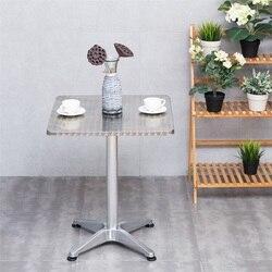 23 1/2 Edelstahl Aluminium Platz Cafe Bistro Tisch Leichte Bauen Glatte Edelstahl Tisch Top leicht zu reinigen