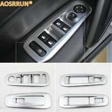 Aosrrun автомобильные аксессуары ABS Windows nt украшение стразами крышка ABS хром пластина для peugeot 308 T9 2015 2016 2017