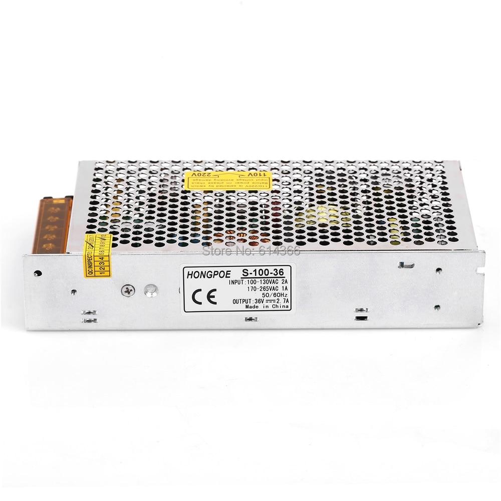 1PCS 100W 36V power supply 36V2.7A LED Driver 36V 2.7A power supply AC-DC 110/230VAC S-100-36 1pcs 75w 36v power supply 36v2a led driver 36v 2a power supply 36v 75w s 75 36