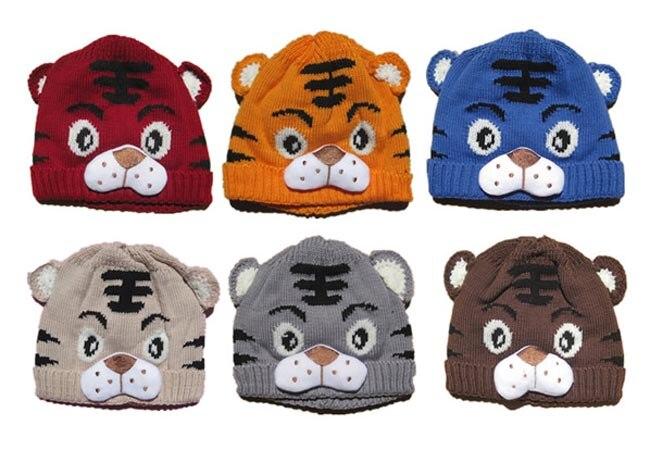 Pudcoco Crochet Knitting Tiger Cap 2018 Spring Autumn Children Knitted Hat Baby Warm Caps Fashion Kids Beanies Girl Boy Caps
