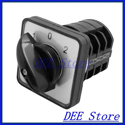 AC 440V 10A 3 Positions 12 Screw Terminals Universal Cam Switch 16a 500vac 12 screw terminal 4 positions universal changeover switch