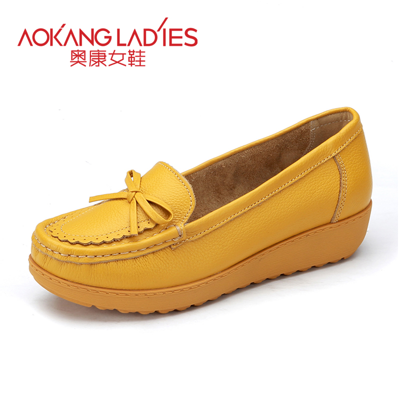 ФОТО AOKANG 2016 Spring New Arrival Women Flats shoes ladies shoes Brand women shoes Soft and Comfortable Many Colors Available