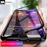 360 étui pour iPhone 11 Pro XS MAX XR X en verre trempé étui de protection magnétique en métal pour iPhone 7 8 6 6S Plus Coque