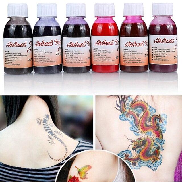 100 Mlflasche Wasserdicht Airbrush Tattoo Tinte Für Körper Malerei