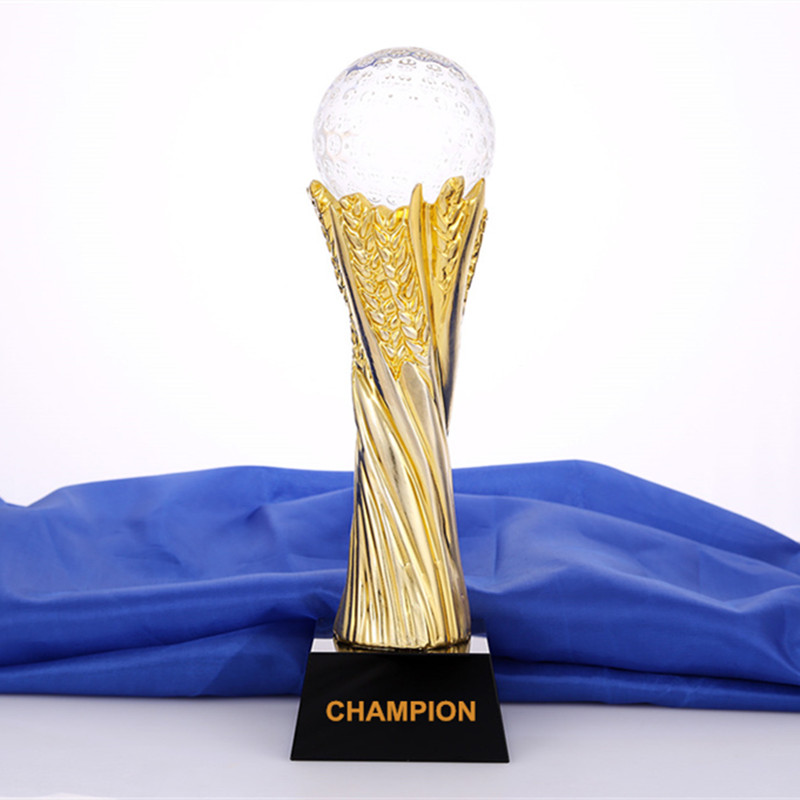 Metal Crytal Trophy With A Crystal Golf Engraved Logo Or Words For Golf Game Award Cup Sports Souvenirs Champions League Trophy