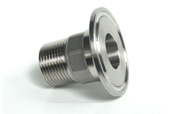 Stainless inch bsp male tri clamp sanitary