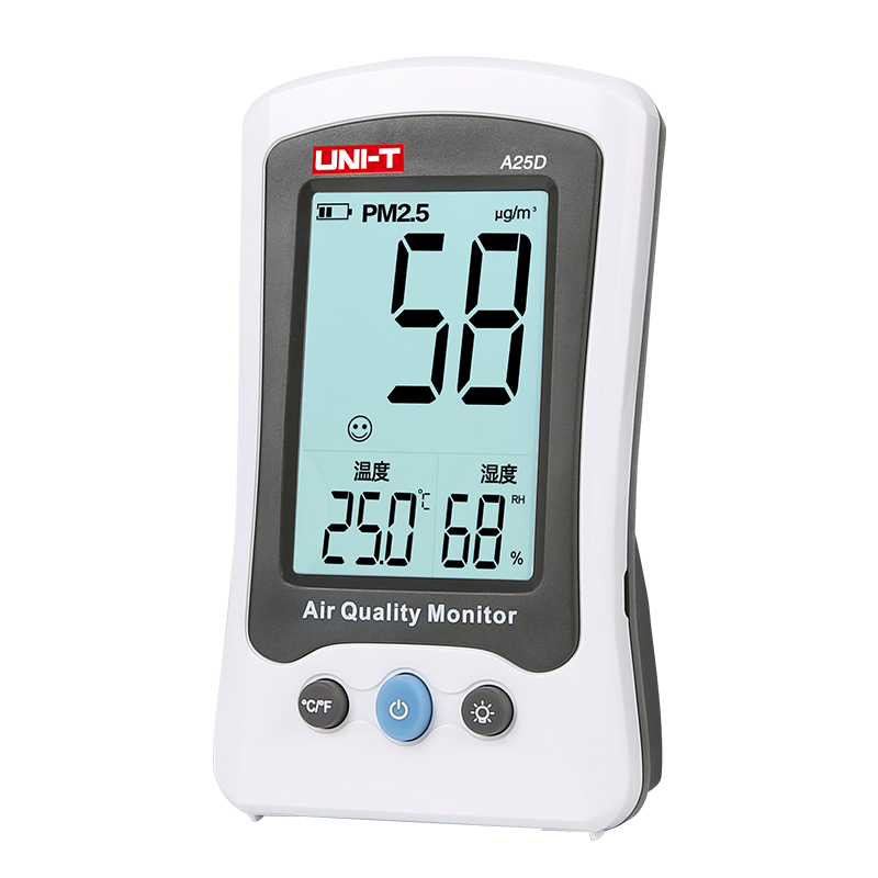 UNI-T A25D PM2.5 air quality monitor Temperature Humidity For Outdoor Indoor Environmental Auto Range Gas analyzer indoor air quality pm2 5 monitor meter temperature rh humidity