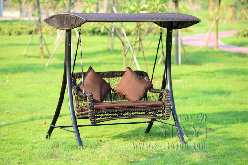 2 Person Wicker Patio Garden Swing Chair Haning Hammock Rattan Outdoor  Cover Seat Bench With Cushion In Patio Swings From Furniture On  Aliexpress.com ...
