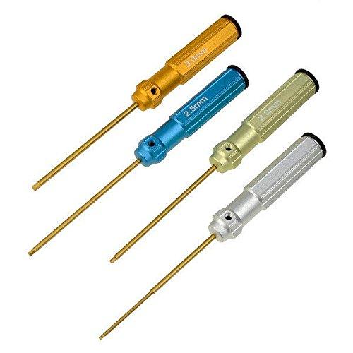 Оптовые 10 комплектов/много 4шт комплект инструментов Шестигранную отвертку винт 1.5 мм 2.0 мм 2.5 вертолетов автомобиля красочные мм 3.0 мм для RC