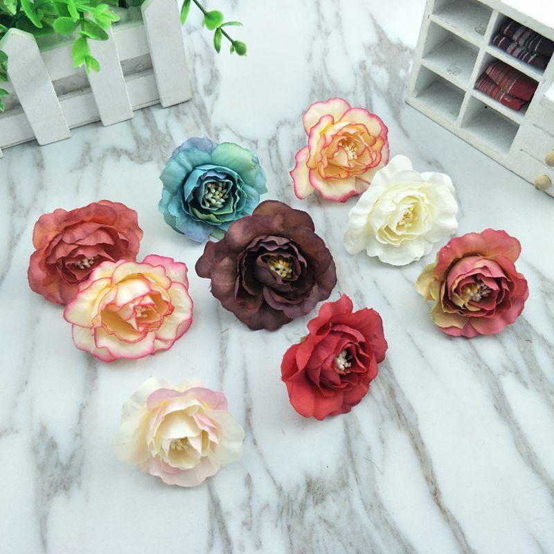 1 Pcs Simulatie Vintage Camellia Nep Zijde Bloem Diy Wedding Arches Bloem Muur Achtergrond Decoratieve Tafel Bloem