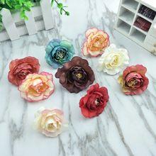 1 Uds simulación vintage Camelia flor falsa seda flor DIY arcos de boda Pared de flores fondo decorativo Mesa flor
