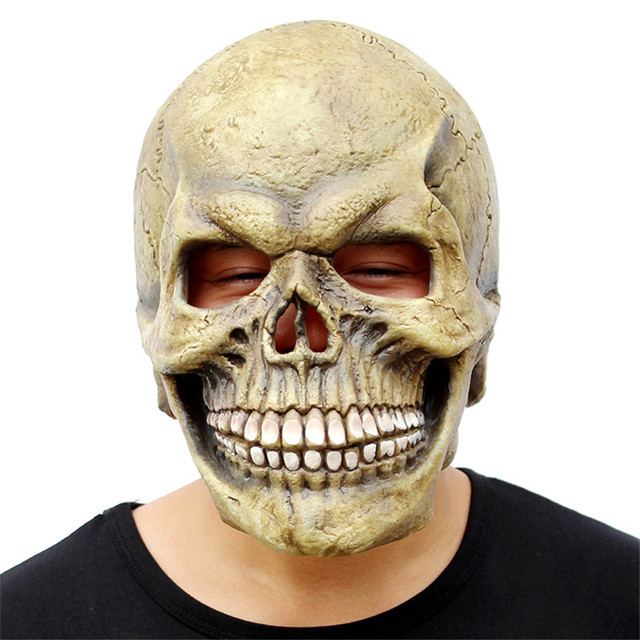 Laugh Skull Mask Hoods mascaras halloween scary mask realistic