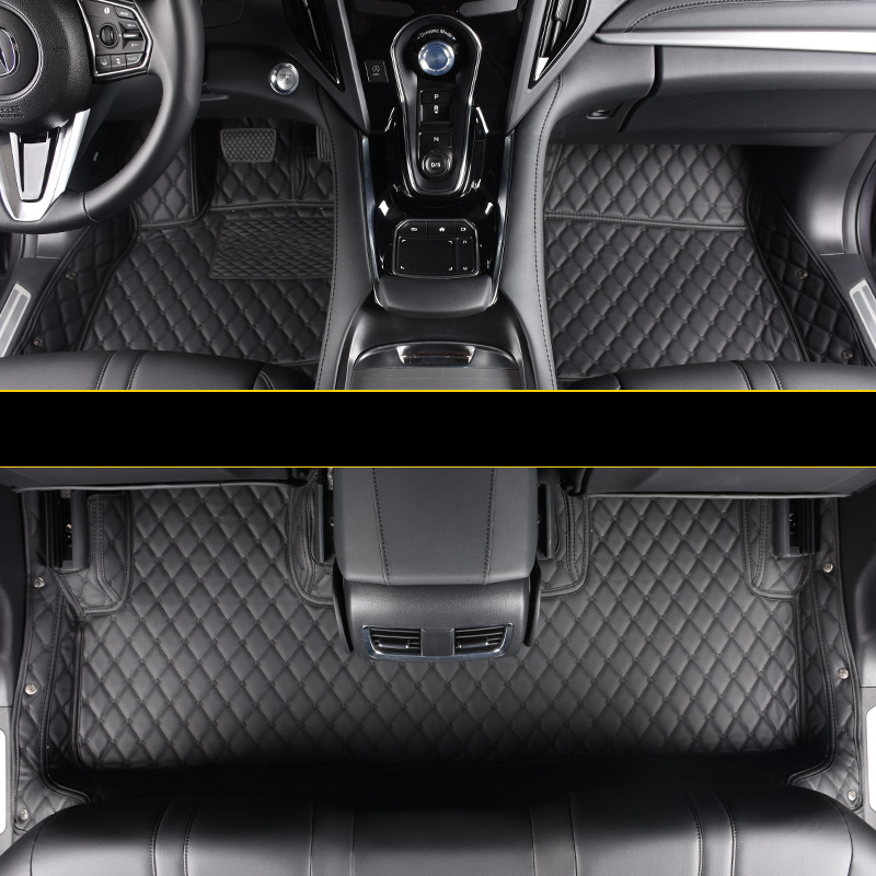 Lsrtw2017 Luxury Fiber Leather Car Floor Mat For Acura RDX