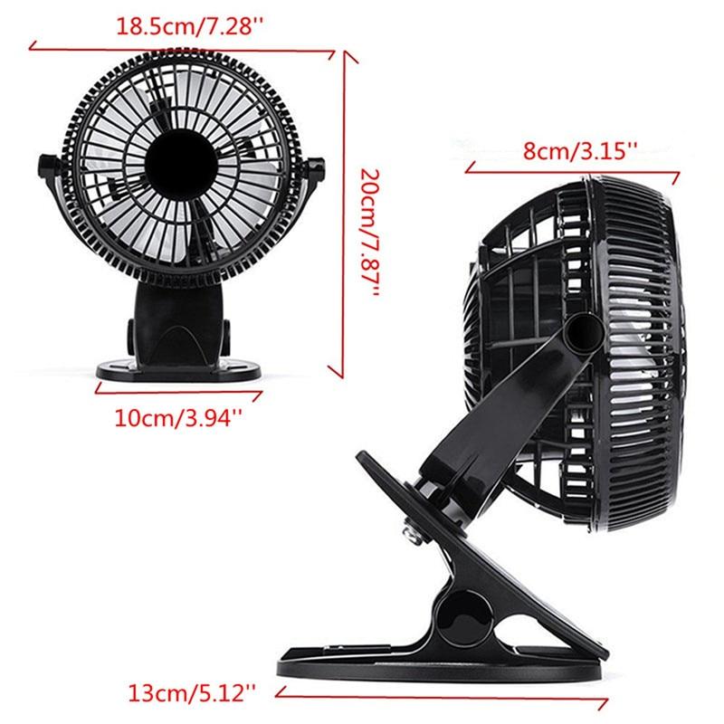 1Pc Portable Clip-on Quiet Table Fan 2 Gear Rocker Switch Mini Desk Fan USB Powered Cooling Flexible Computer Fan for PC Laptop