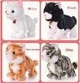 Новый Год интерактивные игрушки Новогодние Игрушки тамагочик электронное животное Для Детей Подарок Электронных домашних животных hello kitty  Музыкальный Интерактивный Робот-Кошка котенок игрушка интерактивная