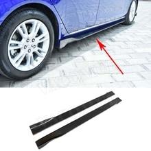 Углерода волокно сбоку юбки для женщин фартук наборы для тела Jaguar XEL Седан 4 двери стайлинга автомобилей