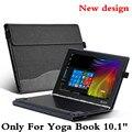 """Design criativo Tablet Tampa Do Portátil Para 10.1 """"lenovo yoga manga livro case pu couro da pele película protetora e caneta como presentes"""