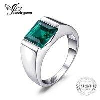 2014 Classic Fashion 8 5ct High Quality Russian Nano Emerald Wedding Ring For Mens 925 Solid