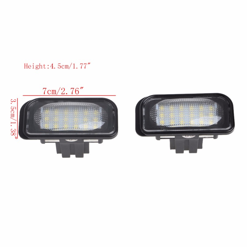 New 2Pcs 18 LED SMD No Error License Plate Light For Benz W203 W211 W219 R171 Car Light Source Drop shipping