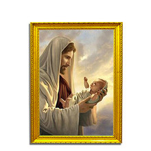 Jesus Loves Children Diamond Painting Mosaic Embroidered Full Art Cross-Stitch Religious Idol