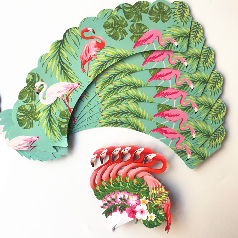 24pcs Tropical Rainforest Flamingo Pinele Cupcake Birthday Party Decorations Children Centerpiece Decor Cake Topper In Diy From
