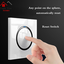 1 2 3 4 Gang Way Household Wall Switch Socket White Flame Retardant PC Panel LED Indicator 86*86mm