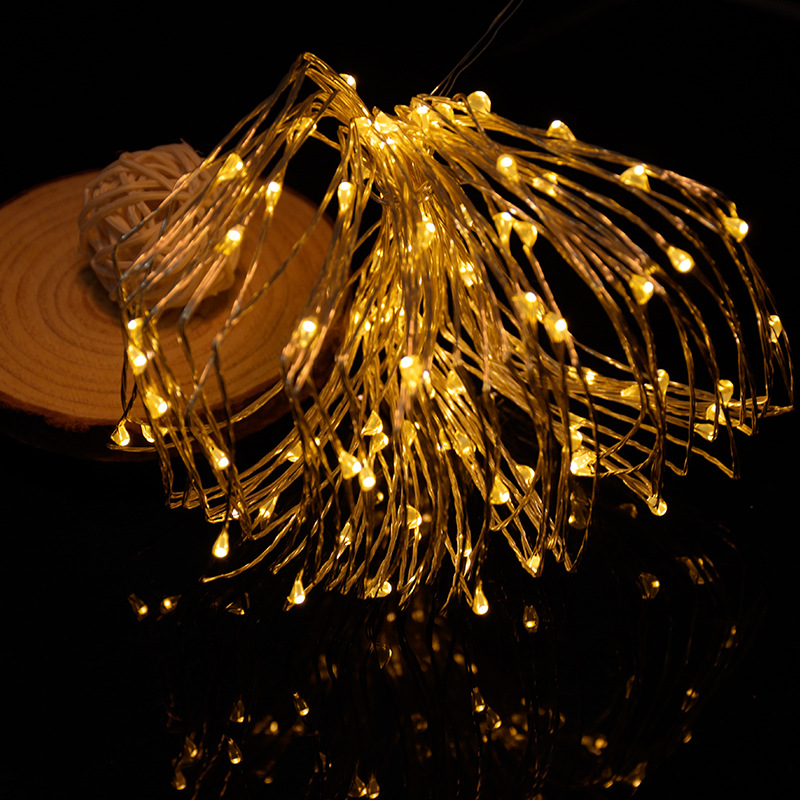 10m 100led 8 modes Battery powered Copper wire LED String Light Christmas Light for Wedding Party Holiday Decoration Garland P20