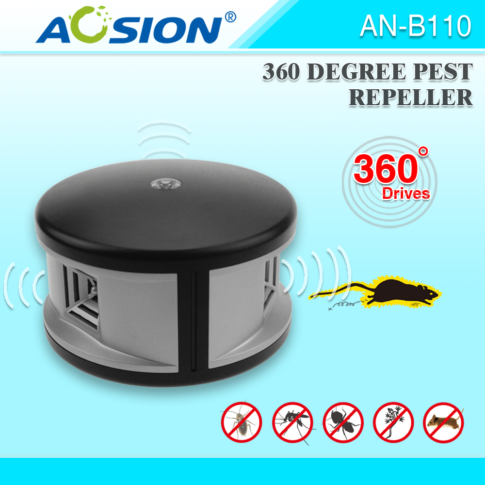 Aosion Indoor ultrasonic 360 degree electronic pest repeller mouse repeller effective ultrasonic rat repeller AN B110