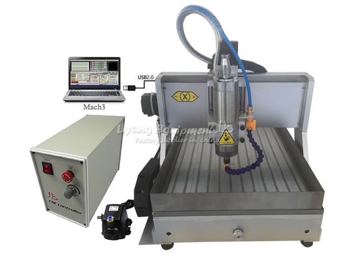 free shipping! LY3040Z-VFD800W CNC router CNC milling machine with water tank for wood, metal, aluminum carving eur free tax cnc 6040z frame of engraving and milling machine for diy cnc router