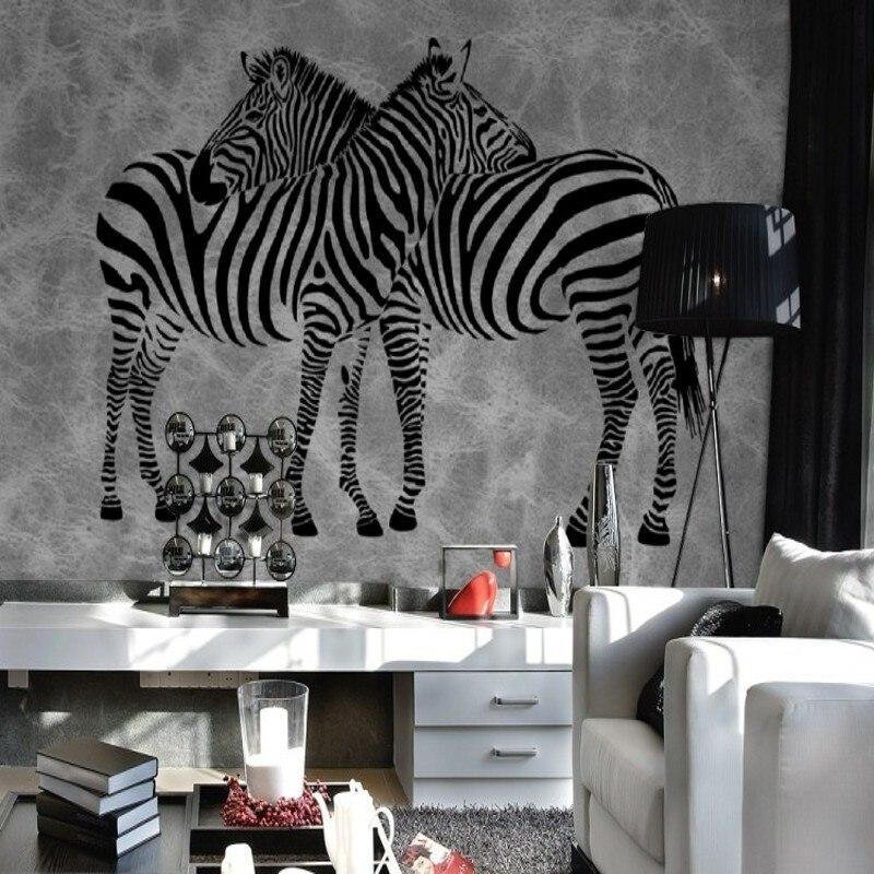 online get cheap zebra bedroom wallpaper