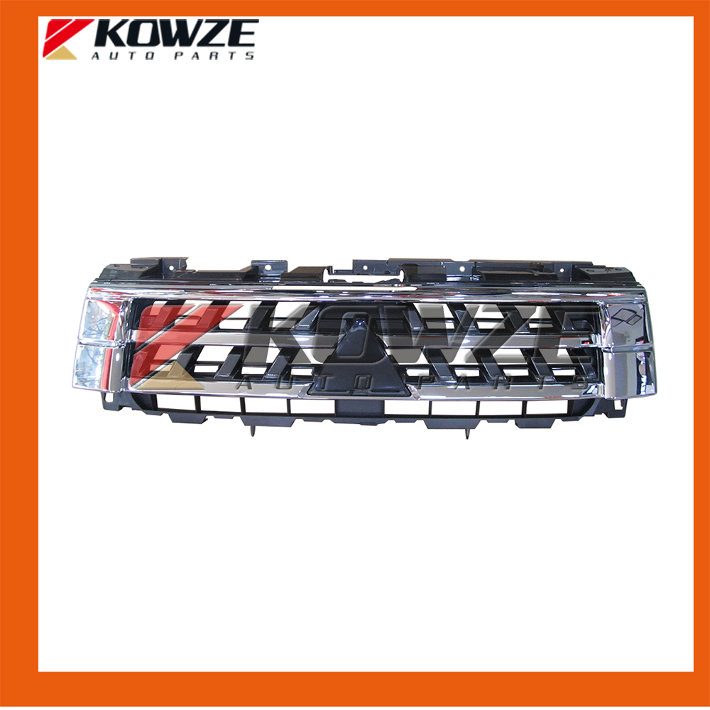 Chrome Radiator Grille for Mitsubishi Pajero Montero Shogun 4 IV 2015- New 7450A956 cawanerl for mitsubishi pajero iv v8