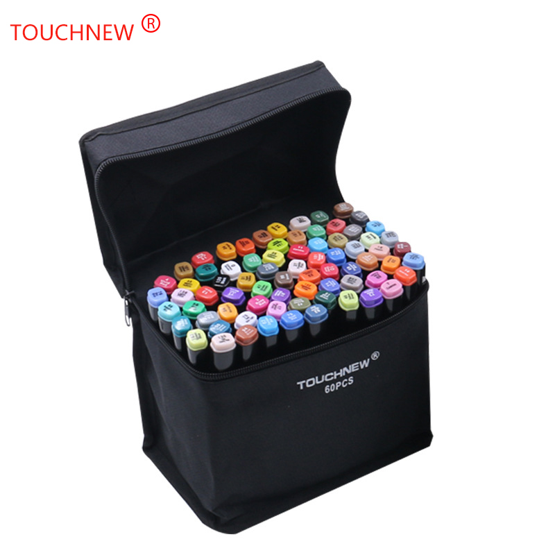 TOUCHNEW Black and white 40 Colors Art Markers Brush Pen Sketch Alcohol Based Markers Dual Head Manga Drawing Pens Art Supplies|Art Markers| |  - title=