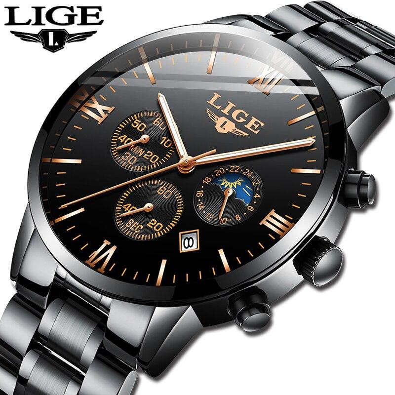 Relojes 2019 Watch Men LIGE Fashion Sport Quartz Clock Mens Watches Top Brand Luxury Business Waterproof