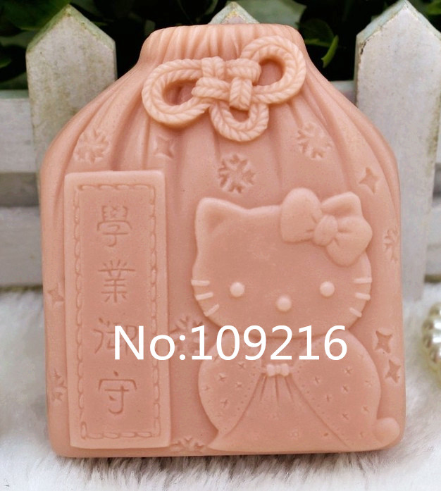 New Product!!1pcs Cat Money Bag (zx167) Silicone Handmade Soap Mold Crafts DIY Mould