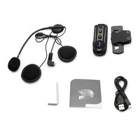 Portable Bluetooth Interphone Universal Noise Reduction Useful Headset Mounted Helmet FM Radio Waterproof For Motorcycle
