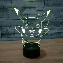 New Lamp 3D Night Light Halloween Kids Toys Holiday Gifts 7Color Change USB Led Lampe Pocket Monsters Lampara