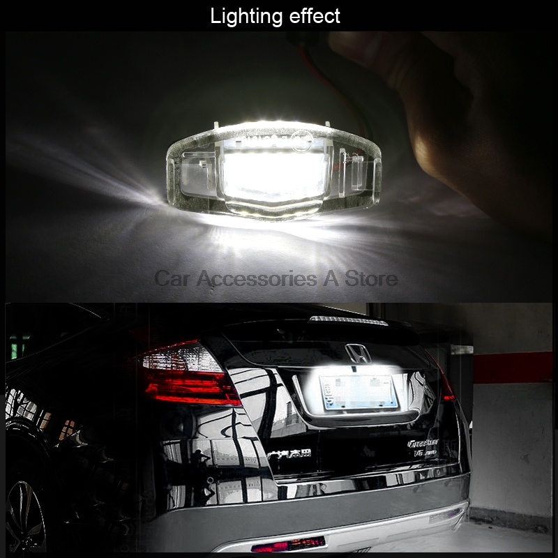 Pcs License Plate Lights LED Direct Fit For Acura TL TSX RDX Honda - Acura license plate