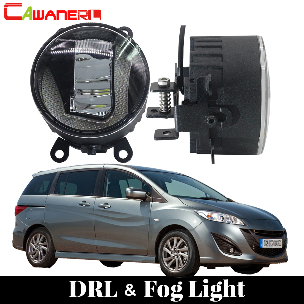 Cawanerl For Mazda MPV II (LW) 1999 2006 Car Styling LED Fog Light Daytime Running Lamp DRL White 12V High Bright 2 Pieces
