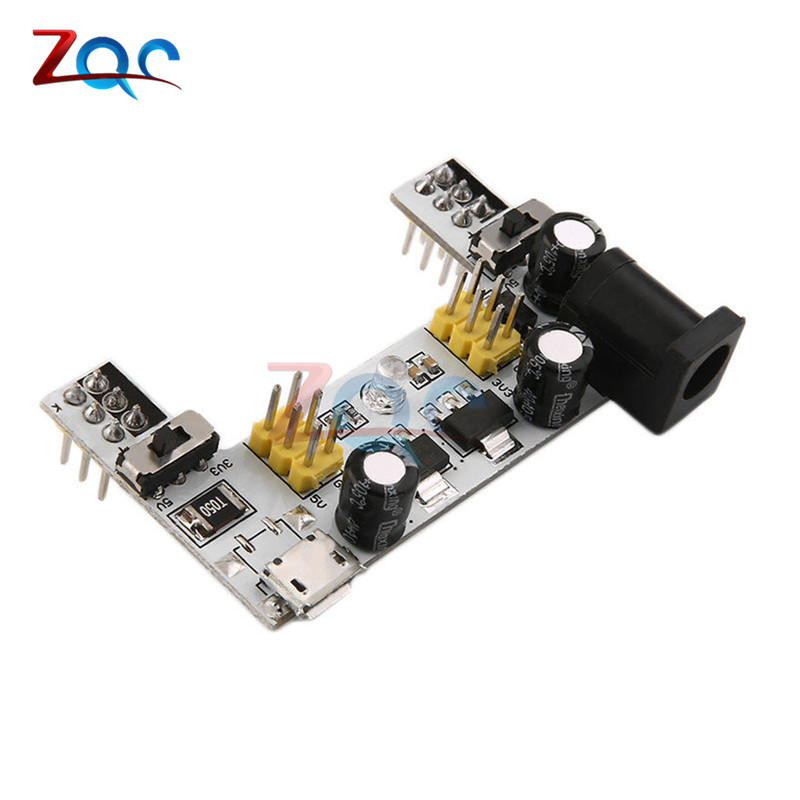 MB102 DC 7-12V Micro USB Interface Breadboard Power Supply Module MB-102 Module 2 Channel Board For Arduino