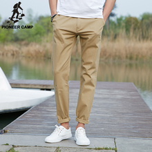 Пионерский Лагерь 2017 повседневные брюки мужчины Марка одежды Высокого качества Весна Длинные Брюки Цвета Хаки Упругие Брюки для мужчин 655110(China (Mainland))